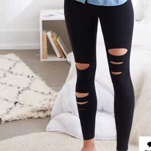 Aerie size L chill.play.move leggings with slits